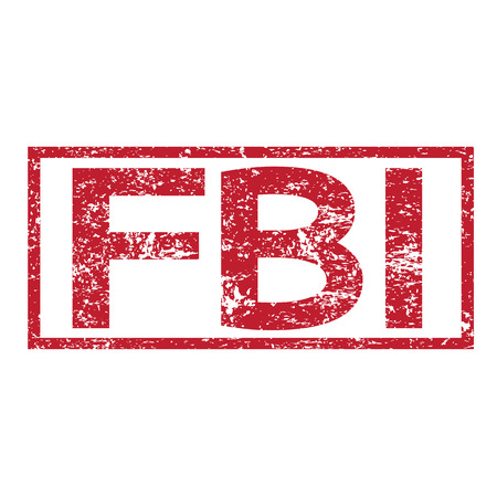 conspire: Stamp text FBI Illustration