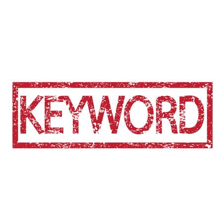 keywords link: Stamp text KEYWORD Illustration