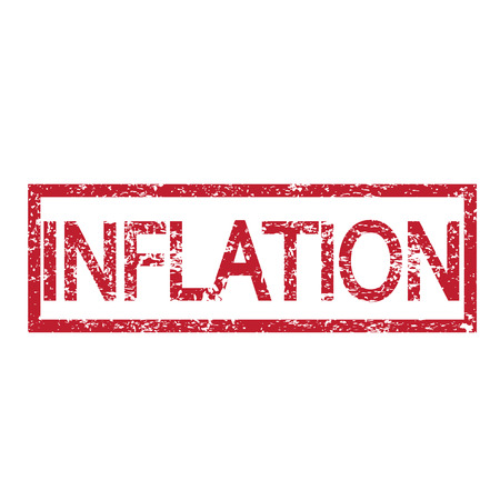 inflation: Stamp text INFLATION