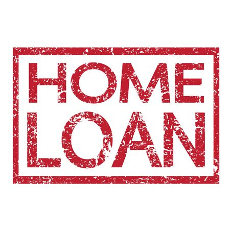 home loan: Stamp text HOME LOAN