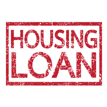 loan: Stamp text HOUSING LOAN Illustration