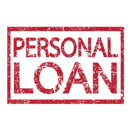 loan: Stamp text PERSONAL LOAN