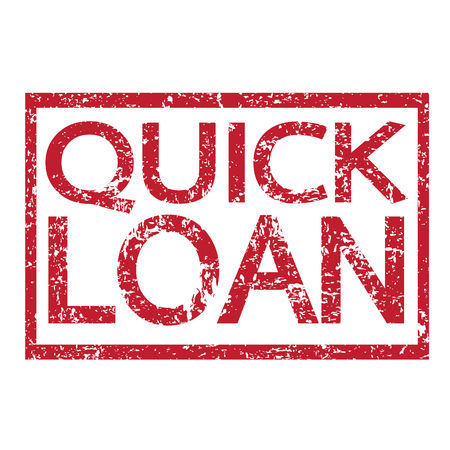quick: Stamp text QUICK LOAN