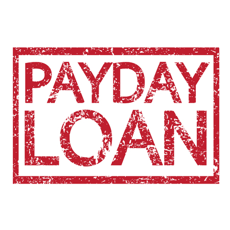 Stamp text PAYDAY LOAN Illustration