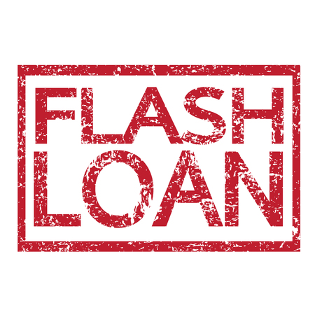 easy money: Stamp text FLASH LOAN