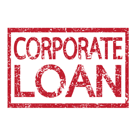 easy money: Stamp text CORPORATE LOAN Illustration