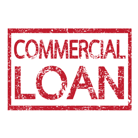 loan: Stamp text COMMERCIAL LOAN