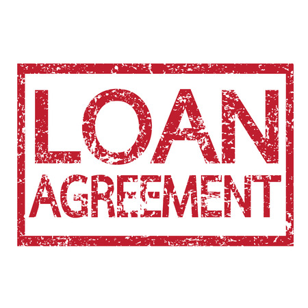 loan: Stamp text LOAN AGREEMENT