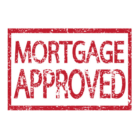 approved: Stamp text MORTGAGE APPROVED