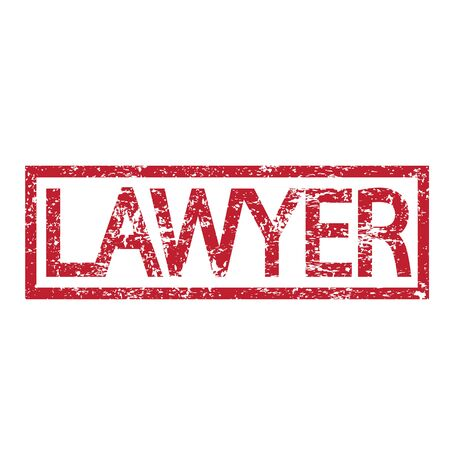 compliant: Stamp text LAWYER Illustration