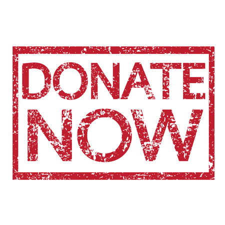 help each other: Stamp text DONATE NOW