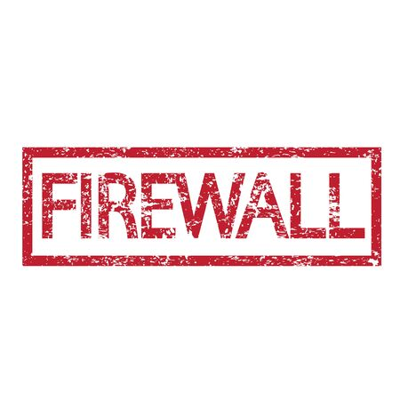 isp: Stamp text FIREWALL