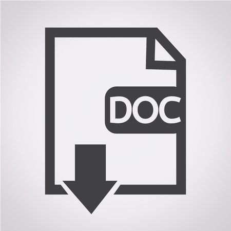 uncompressed: File type DOC icon