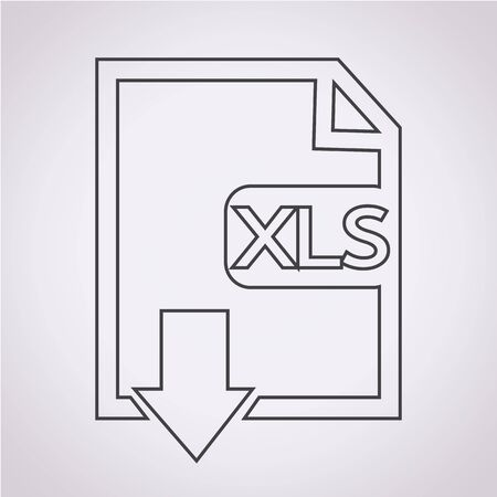 uncompressed: File type XLS icon