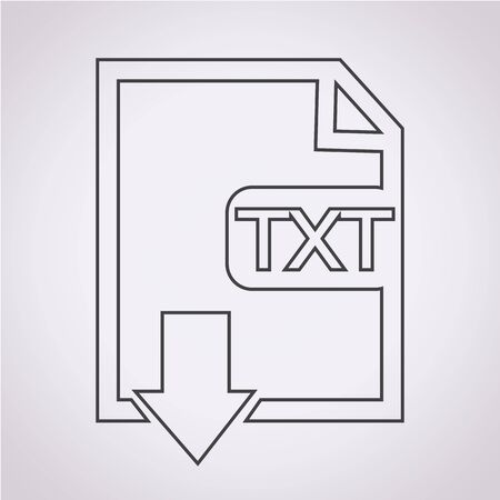 file type: File type TXT icon Illustration