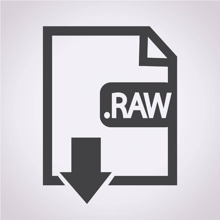 raw: Image File type Format RAW icon