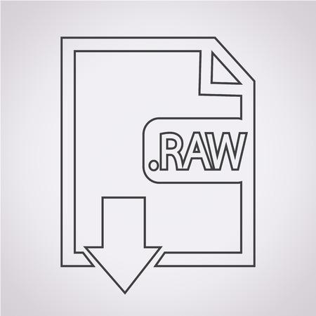 rindfleisch roh: Bilddateityp Format RAW-Symbol Illustration