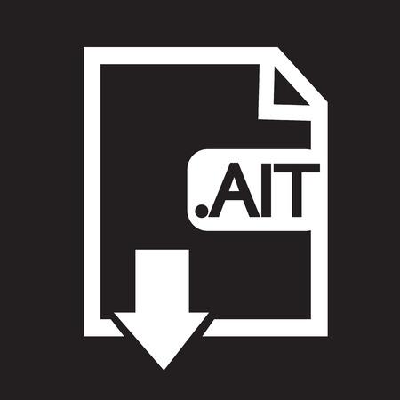 file type: Image File type Format AIT icon Illustration