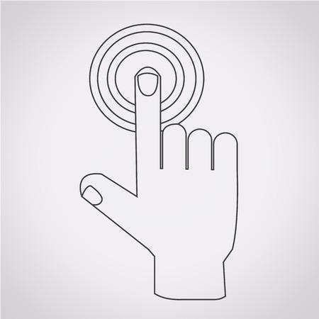click the icon: hand click icon