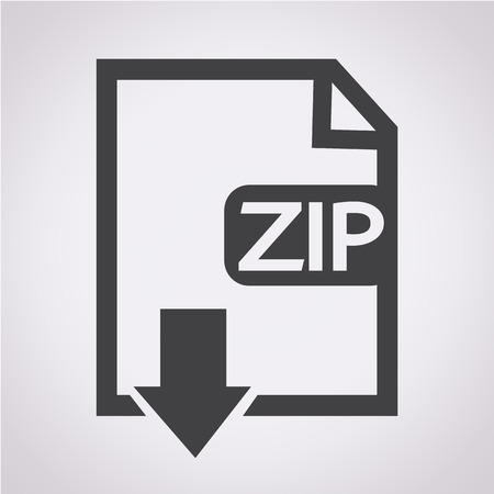 uncompressed: File type ZIP icon Illustration