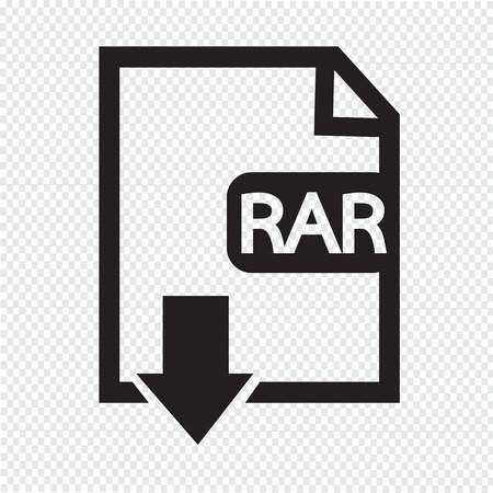 uncompressed: File type RAR icon Illustration