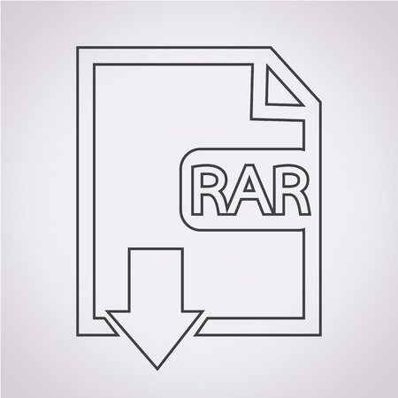 rar: File type RAR icon Illustration