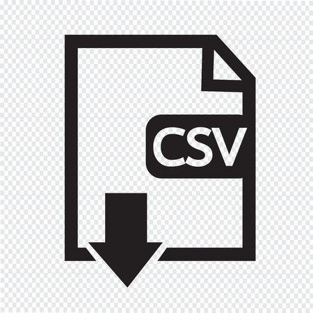 uncompressed: File type CSV icon