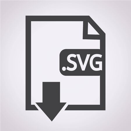 Image File type Format SVG icon Stock Vector - 38412146