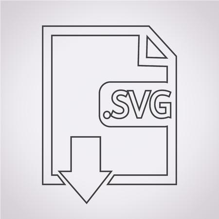 svg: Image File type Format SVG icon Illustration