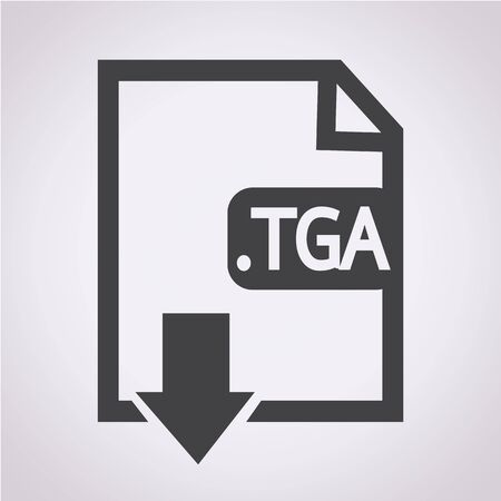 file type: Image File type Format TGA icon Illustration