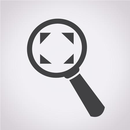 scrutinize: Magnifying Glass Icon Illustration