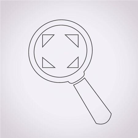 scrutiny: Magnifying Glass Icon Illustration