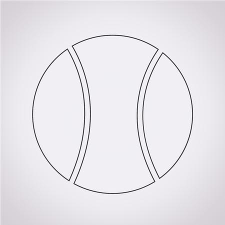 tennisball: Tennis Ball Icon Illustration