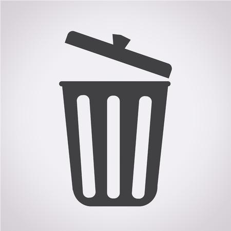 trash icon Illustration