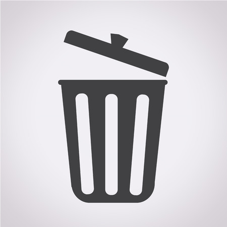 garbage can: trash icon Illustration