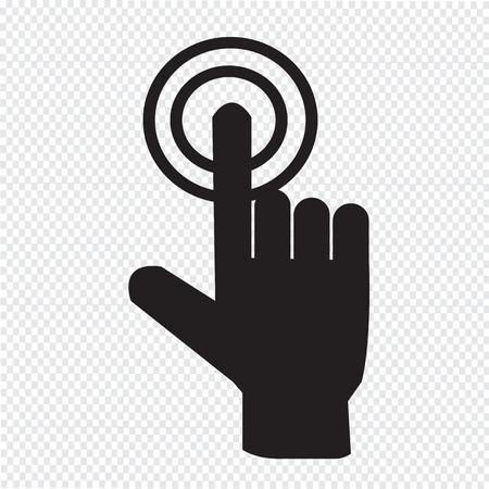 hand click icon Vector
