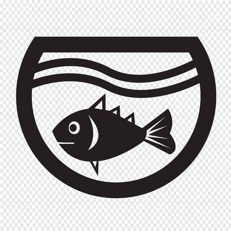 fishbowl: fish in aquarium icon