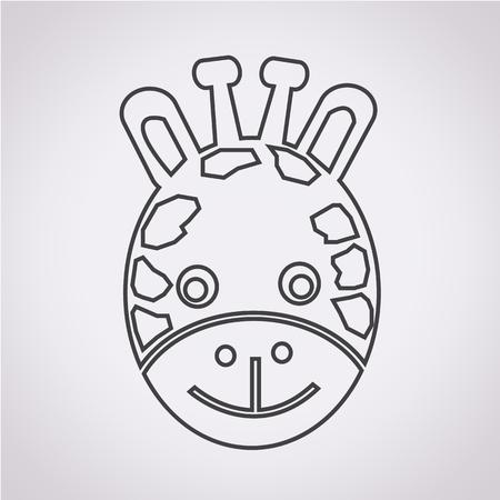 camelopardalis: Giraffe Face Icon