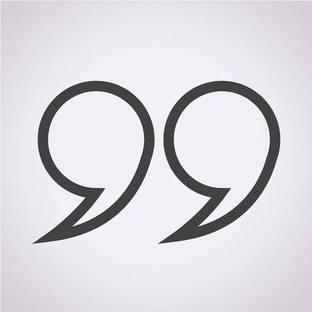 quotation: Quotation mark symbol Icon