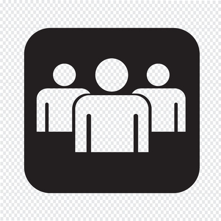 group people: Group people sign icon