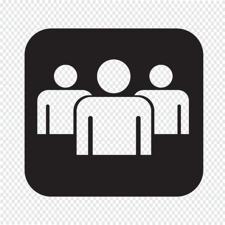 gruppe von menschen: Gruppe Menschen unterschreiben Symbol