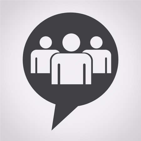 gruppe von menschen: Sprechblase Gruppe Menschen Symbol