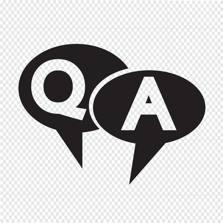 question and answer: Q&A symbol ,Question answer icon