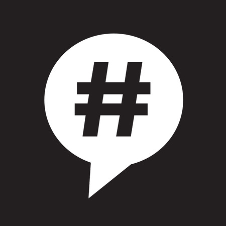 Hashtag speech bubble icon  イラスト・ベクター素材
