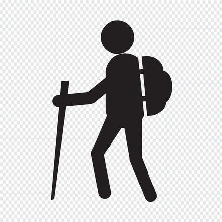 mochila viaje: icono de senderismo