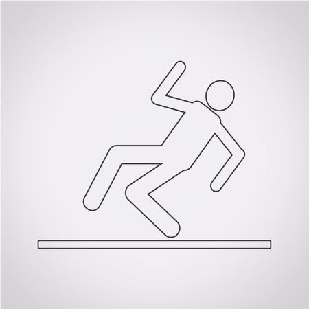gladde vloer teken pictogram Vector Illustratie