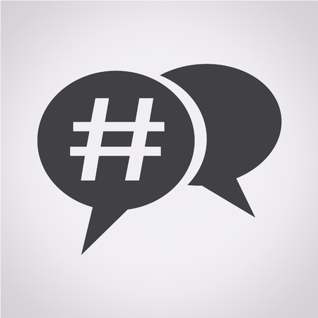 pr: Hashtag social media icon