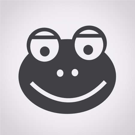 zoo amphibian: frog icon Illustration
