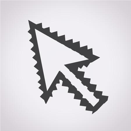 cursor: Arrow cursor Icon Illustration