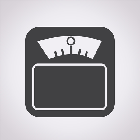 Weight Scale Icon Illustration